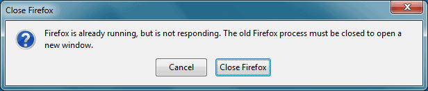 firefox already running