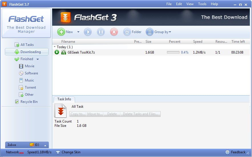 flashget interface