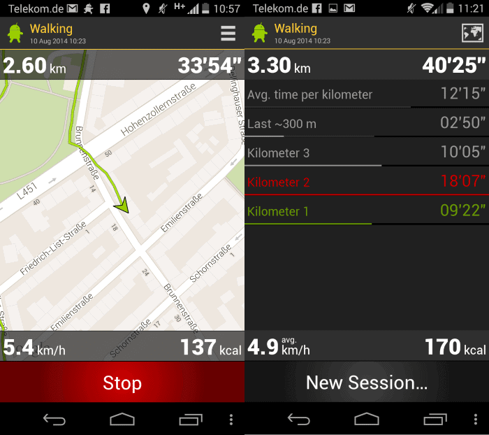 runbot steps tracking app