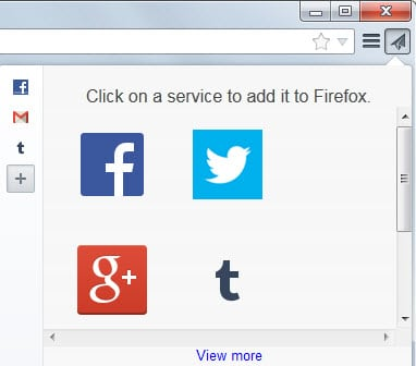 A first look at Firefox's new Share this Page feature