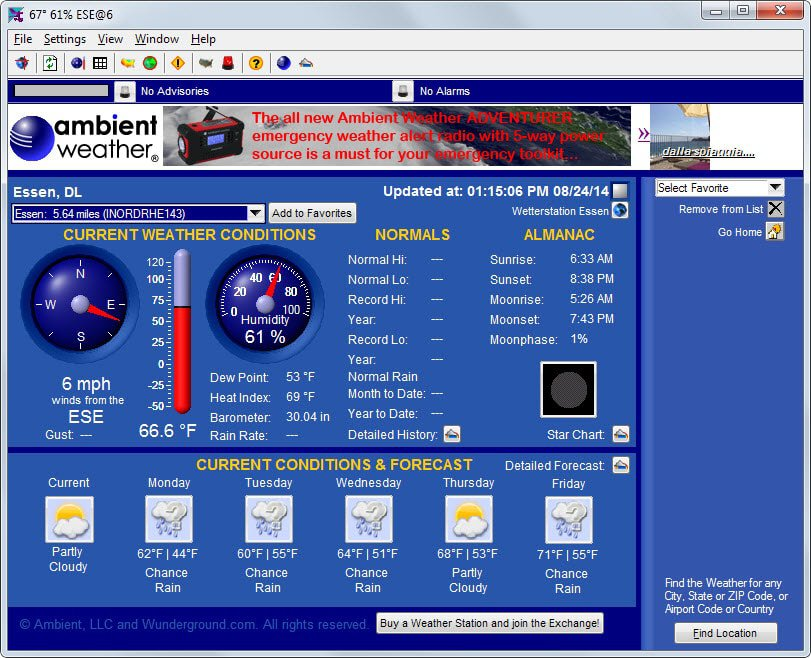 weather exchange