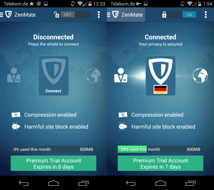 Zenmate launches android vpn app that extends its vpn service software image stopboris Images