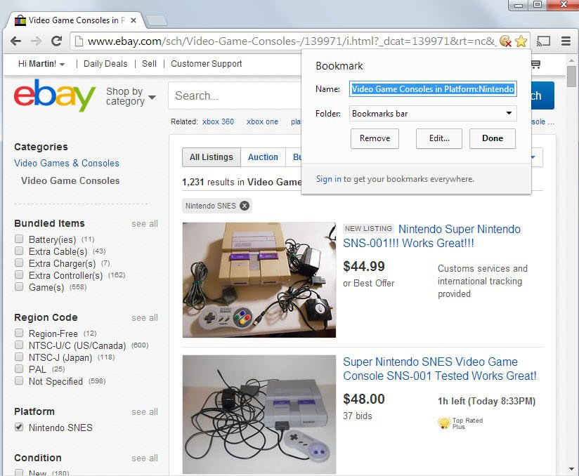 Fast Search on eBay