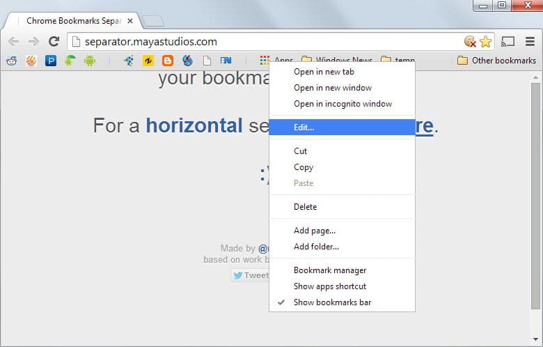Add On Bookmark Chrome
