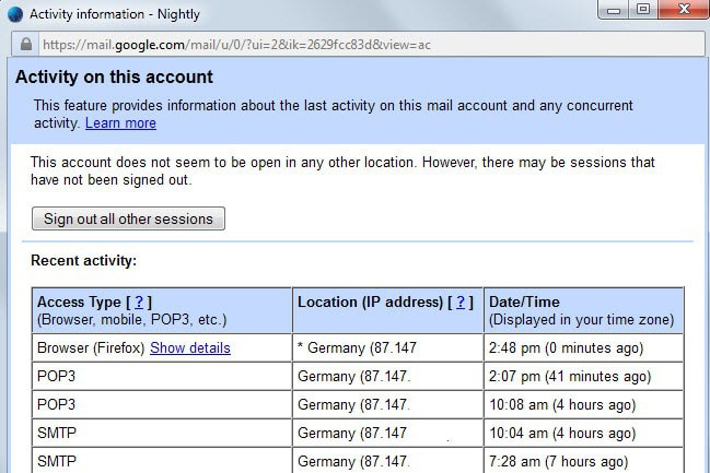 gmail password stolen