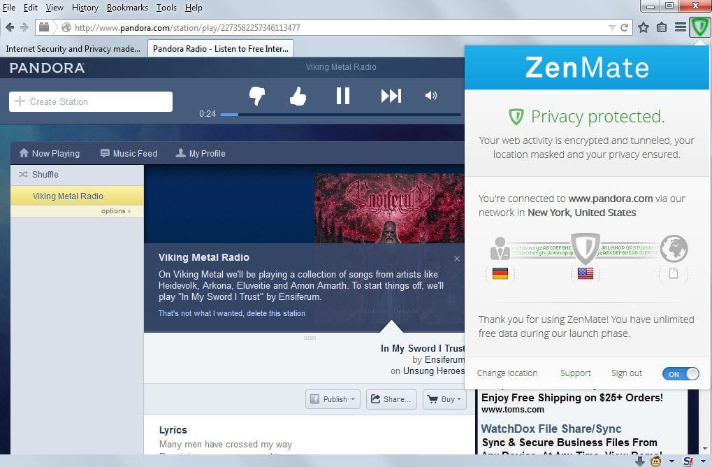 Zenmate Firefox