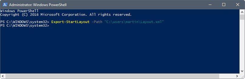 windows 10 start menu backup