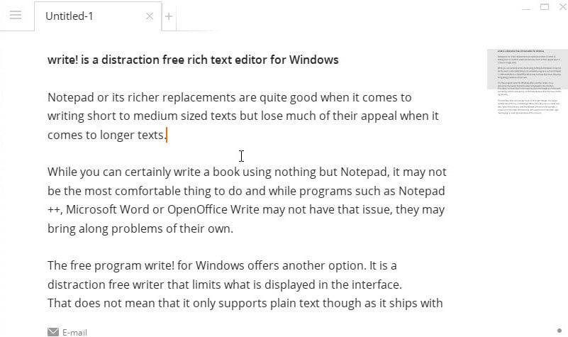 write text editor