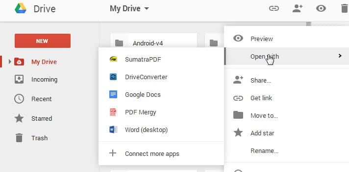 google drive load files locally