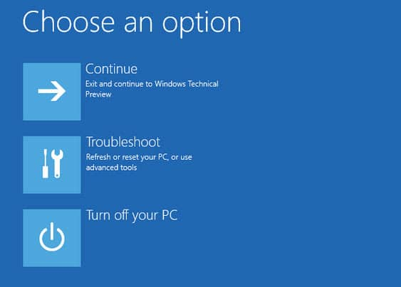 Last Resort to boot into Safe Mode in Windows 8 or newer