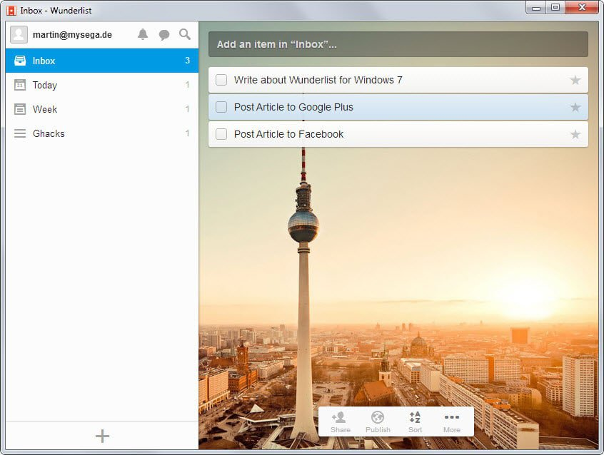 wunderlist windows