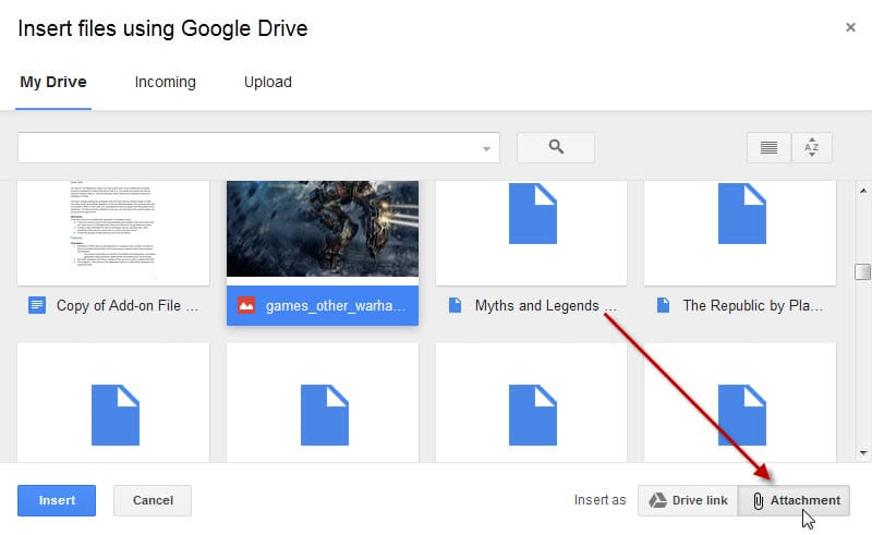 Progress: Gmail users can attach Google Drive files, not links, in emails now