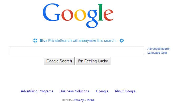 Blur lets you search privately on Google