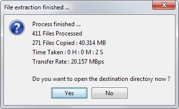 file transfer status