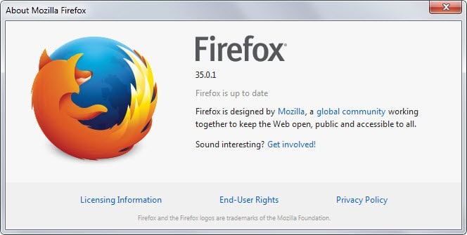 Firefox 35.0.1 fixes a bunch of issues including crashes