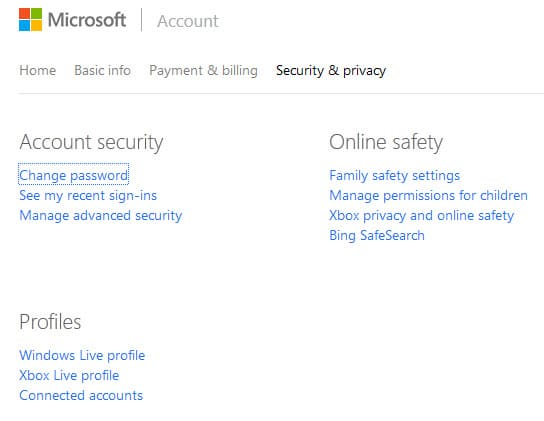 microsoft security privacy