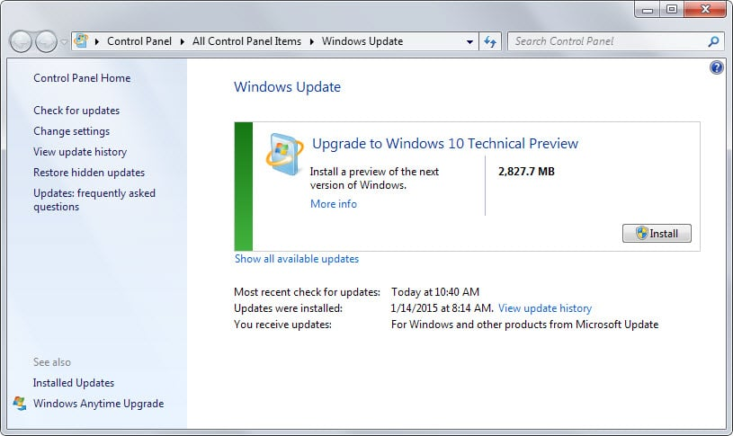 How to update windows 7 or 8 to windows 10 using windows for Windows 10 update
