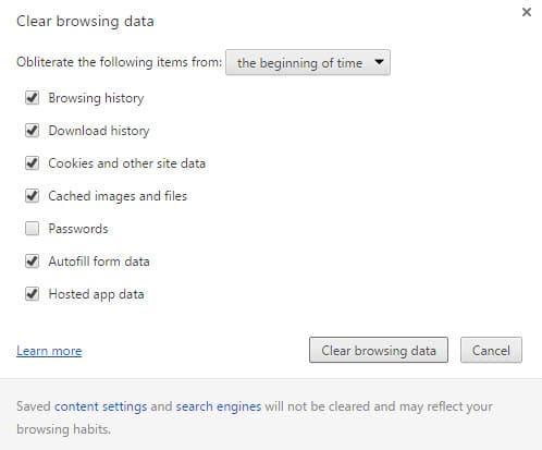 Chrome Clear Local Storage
