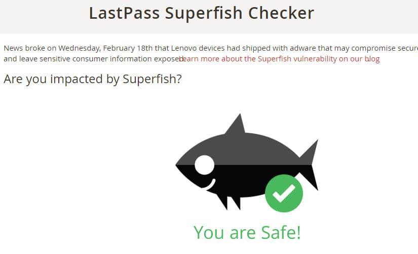 lastpass superfish