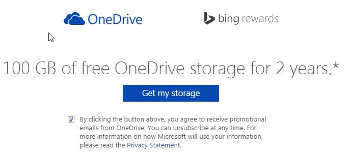 one drive free storage