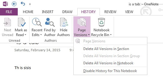 page history