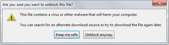 Firefox's Malicious Download Checker gets Bypass option