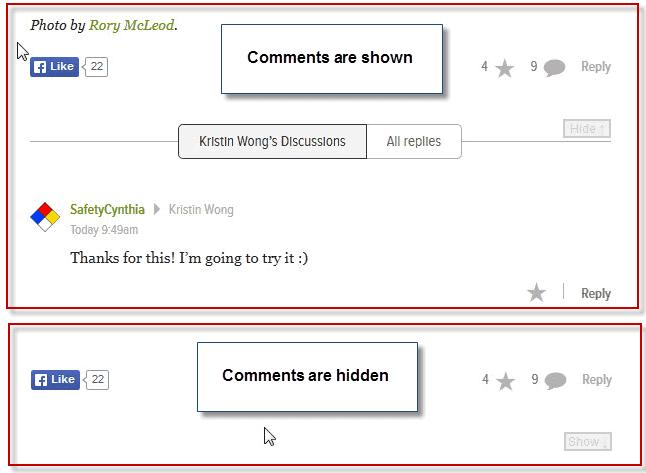 hide comments