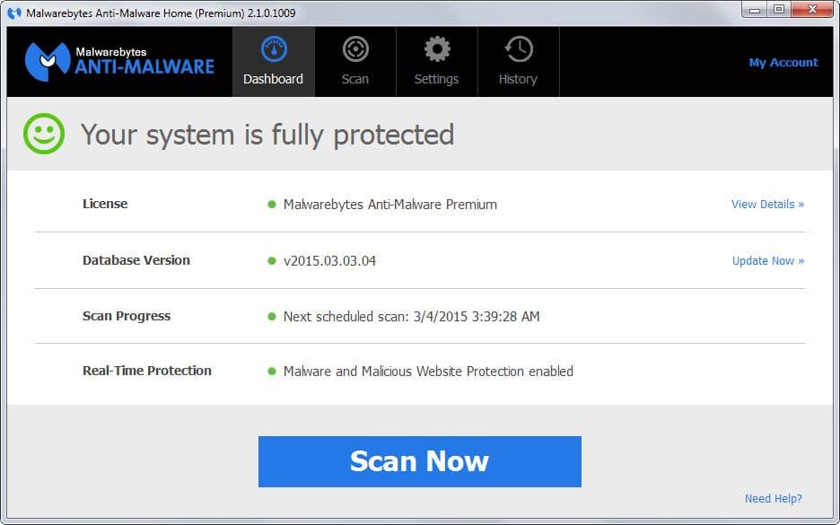 malwarebytes new interface