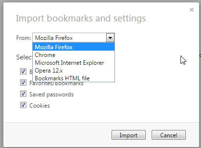 How to transfer browser bookmarks without Sync account
