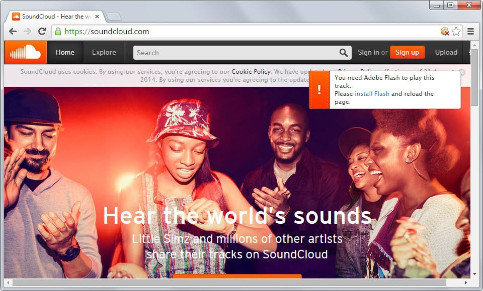 soundcloud flash