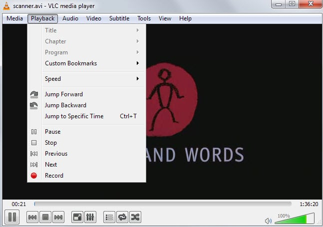 vlc bookmarks