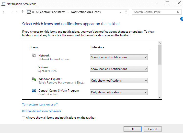 windows 10 icons not showing