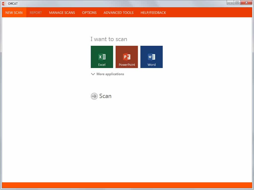 Microsofs Office Configuration Analyzer Tool