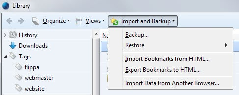 backup bookmarks