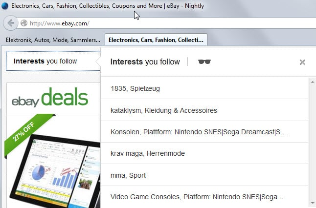 ebay interests