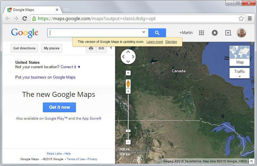 Google to switch all users to the new google maps ghacks tech news google maps classic gumiabroncs Choice Image