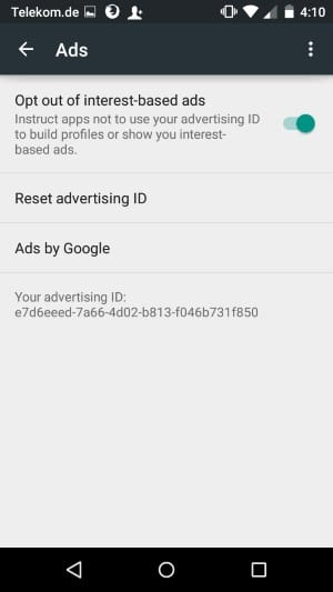 opt out interest based ads
