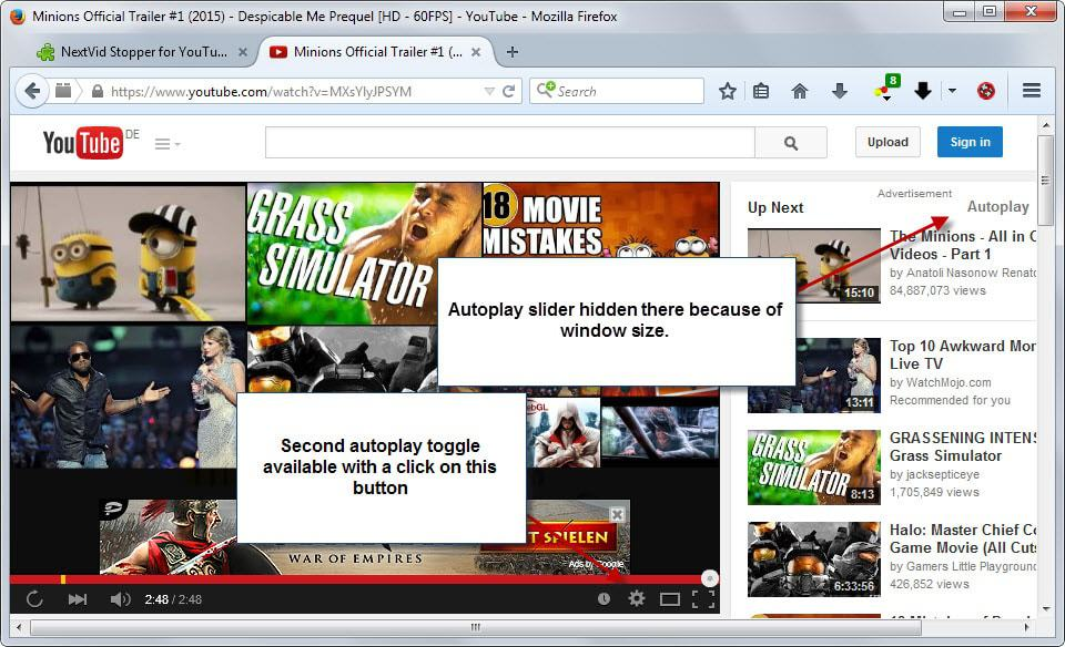 youtube autoplay toggles