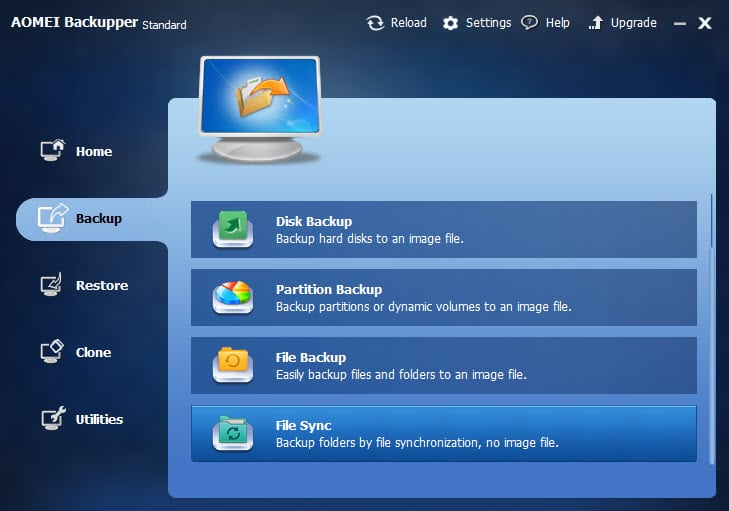 AOMEI Backupper 2.8 introduces File Sync feature