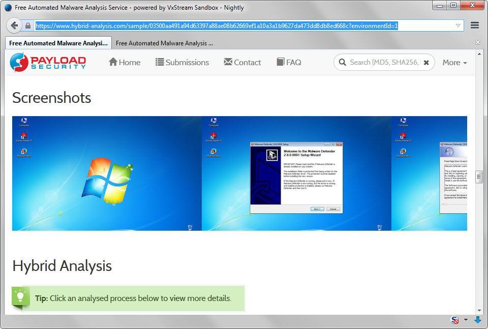 hybrid analysis
