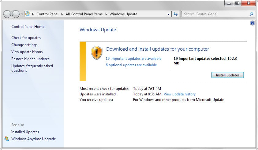 Image result for Microsoft security update