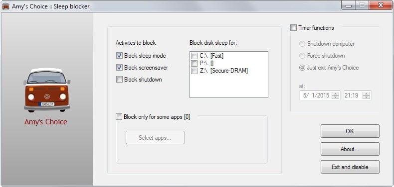 sleep blocker interface