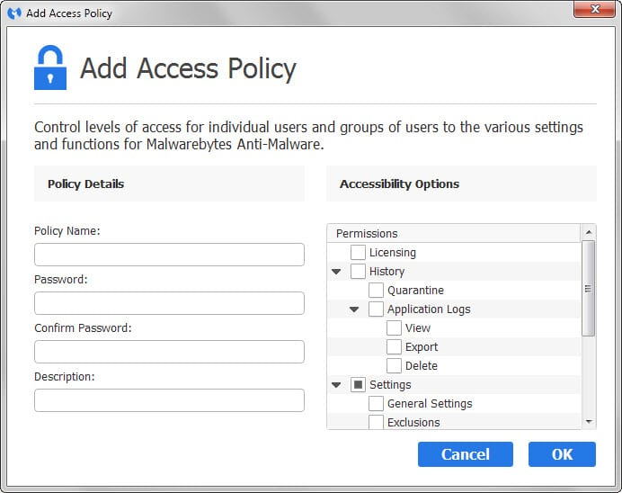 access policies