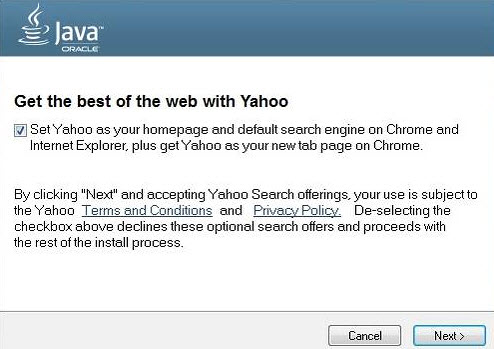 Oracle starts pushing Yahoo instead of Ask Toolbar with Java installations