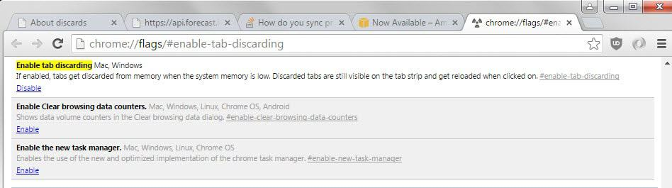 enable tab discarding