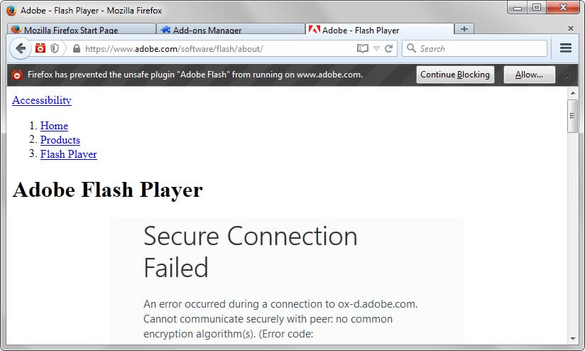 Always Run Adobe Flash Player