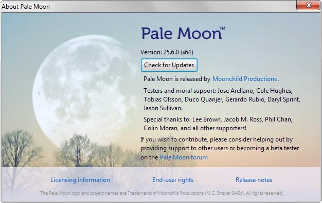 Pale Moon 25.6 ships with anti-fingerprinting option