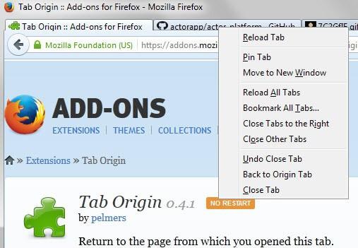 tab origin