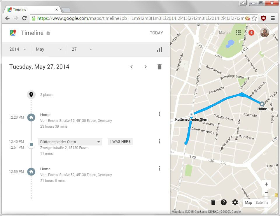 Google Maps Timeline Revisit Places You Have Been To GHacks Tech News - Map of places i have been