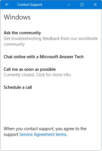 contact support chat online